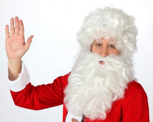 Hair Beard & Wig Santa White Christmas Festive Seasonal Holidays